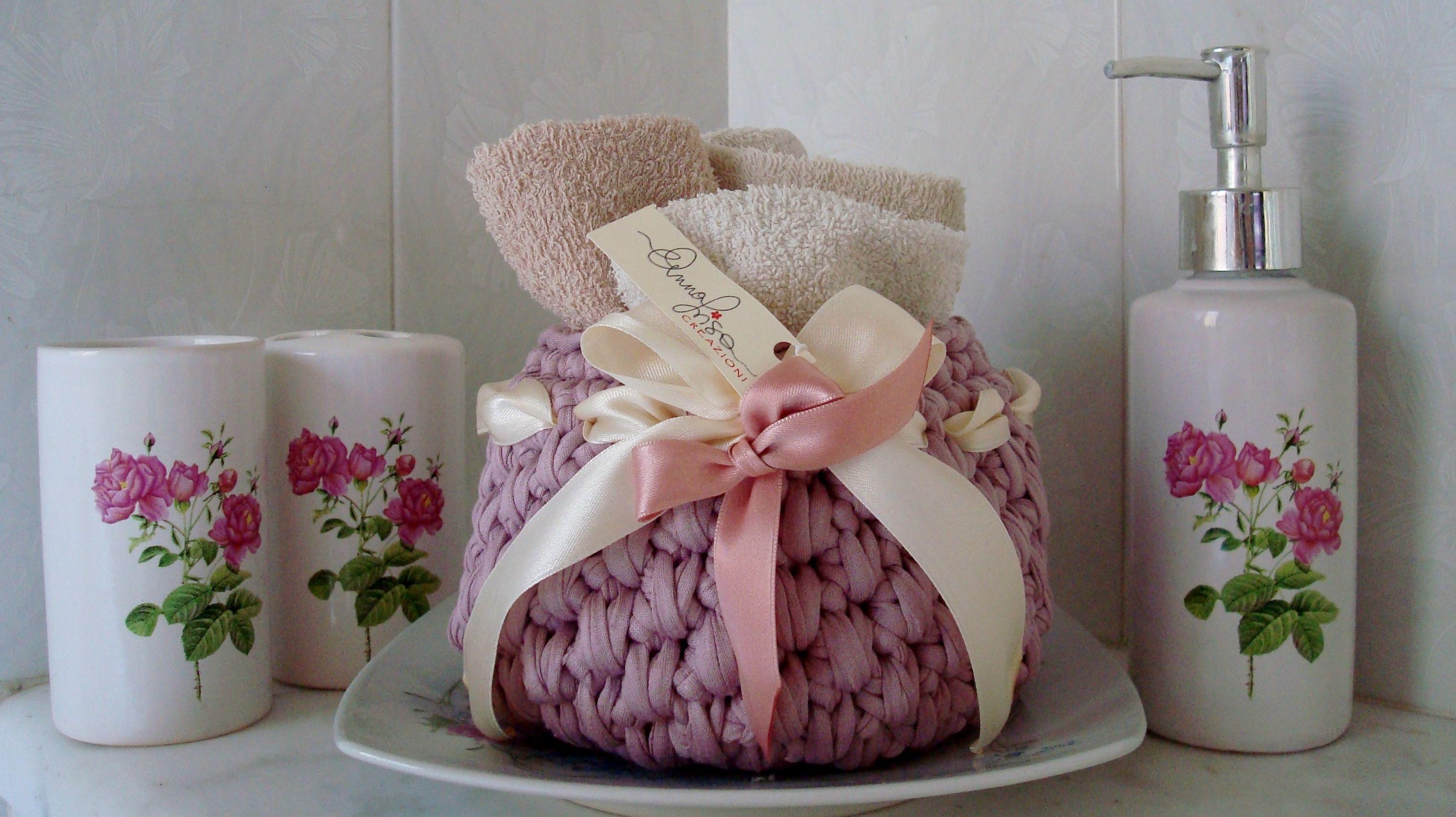 Bagno Moda ~ Cestino portaoggetti bagno fashion creazioni handmade