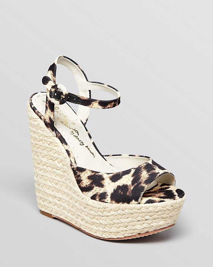 d7140e636 Alice + Olivia Open Toe Platform Espadrille Wedge Sandals in Leopard Print  - Stella at Bloomingdale's