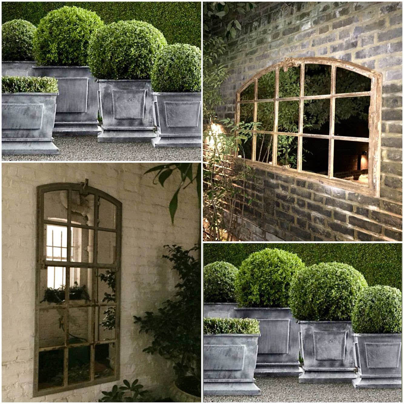 Mirrors bring a great sense of light and space to your garden ...