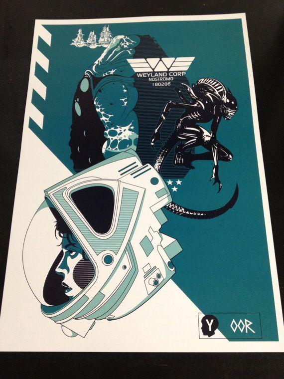 "Alien 24/"" x 36/"" movie poster print"