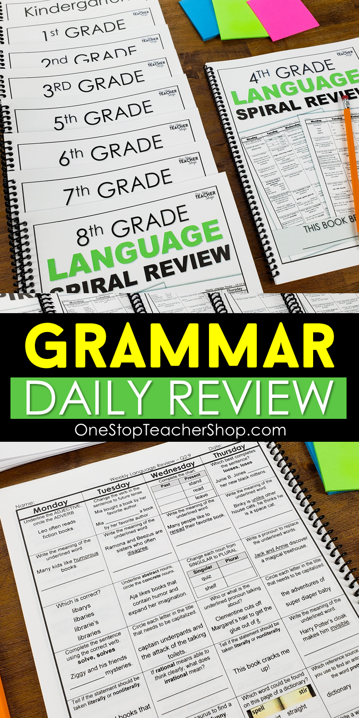 Grammar Spiral Review Daily Grammar Middle School Reading Daily Language Review Grammar Practice [ 1440 x 720 Pixel ]