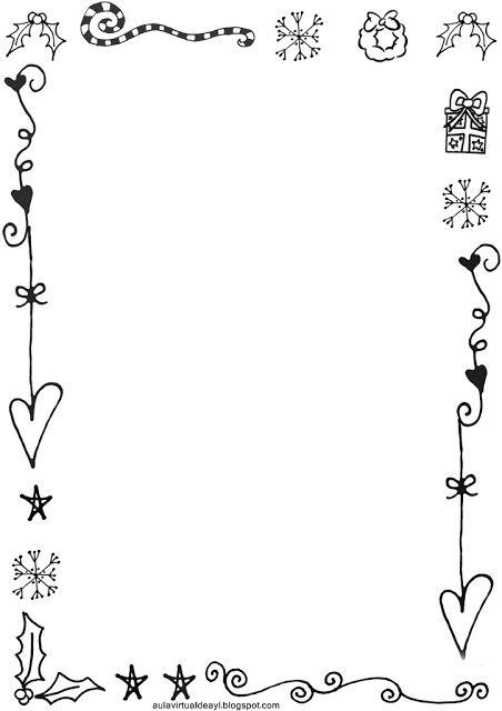 dibujos decorativos navidad aula virtual de audici n y lenguaje marcos y etiquetas christmas labels christmas border y