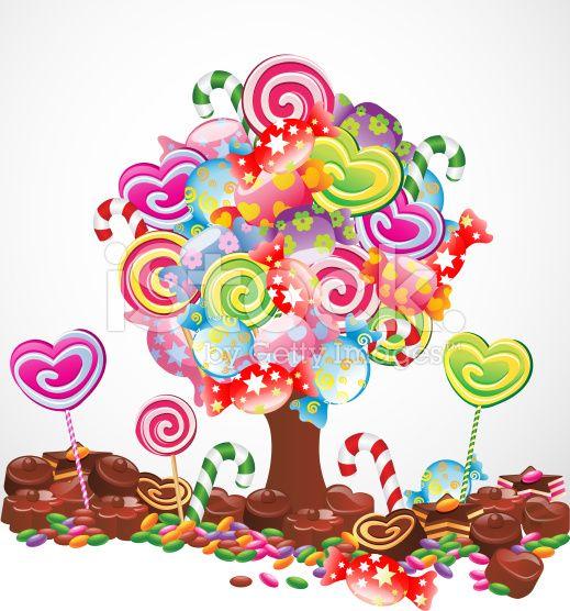 Картинки конфетное дерево анимация