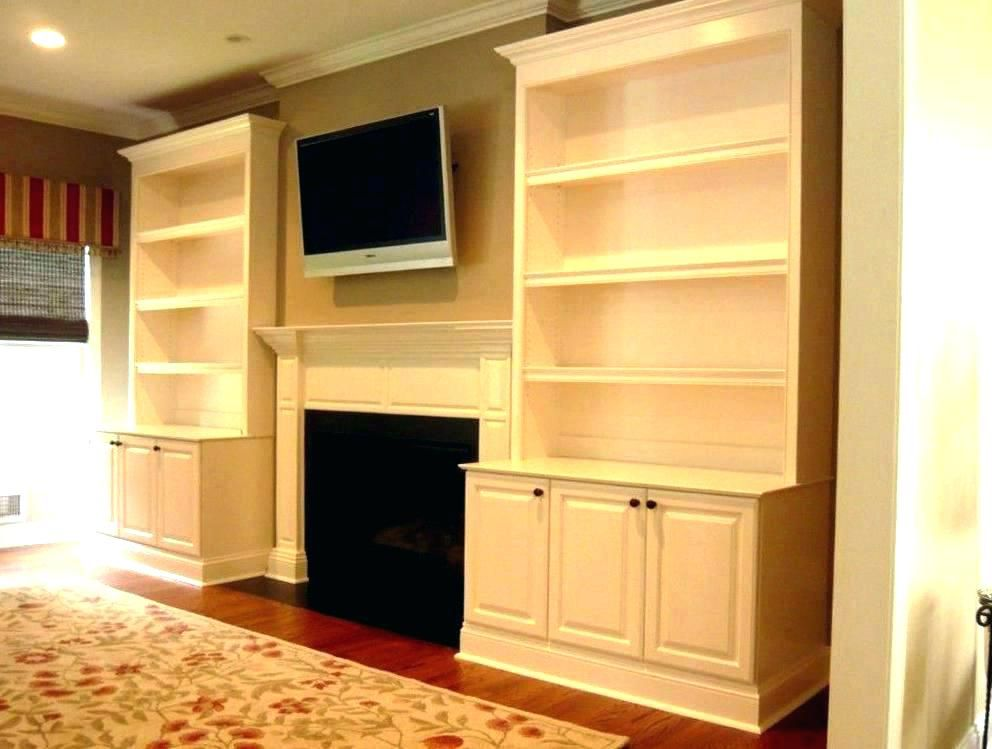 Modern Wood Fireplace And Tv Shelves Tv Above The Fireplace