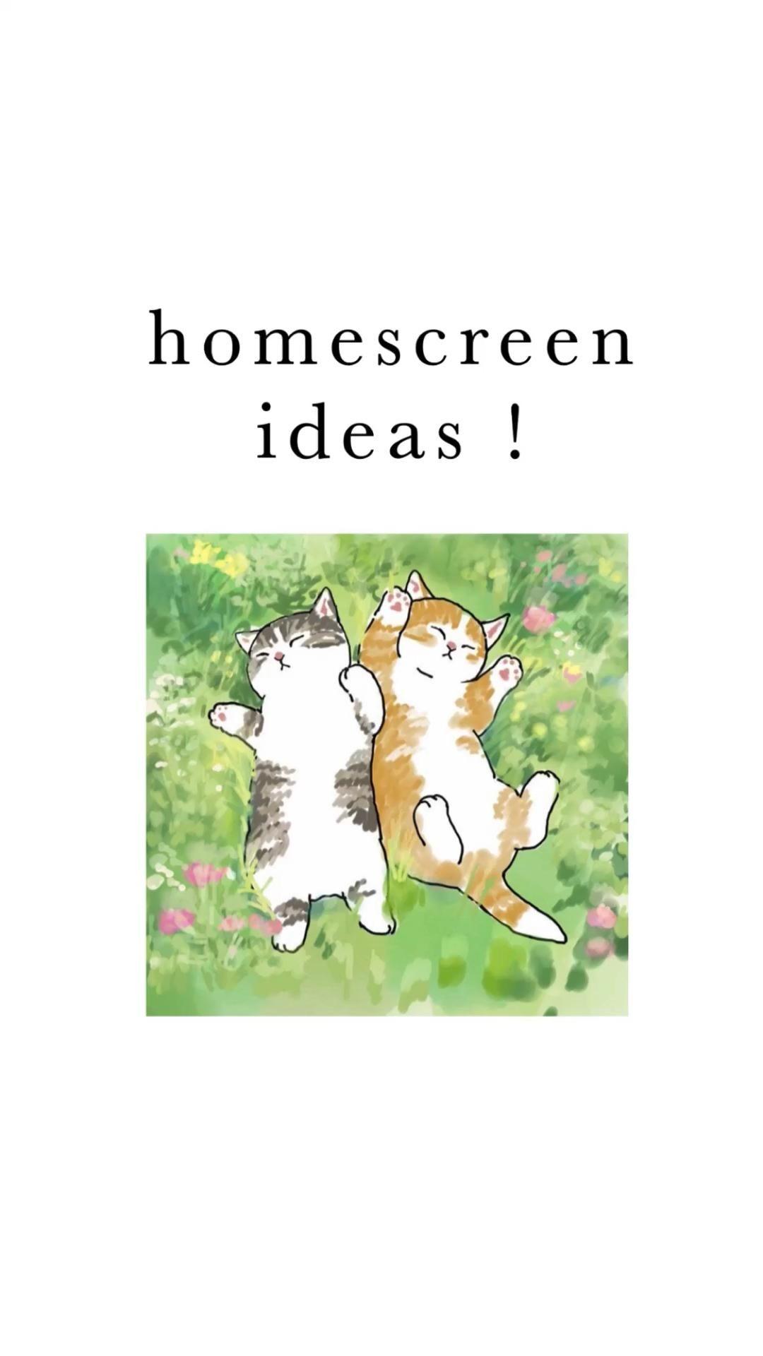 homescreen ideas <3
