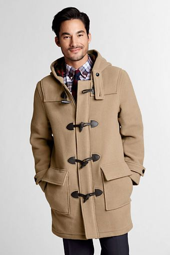 Lands' End Wool Duffle Coat