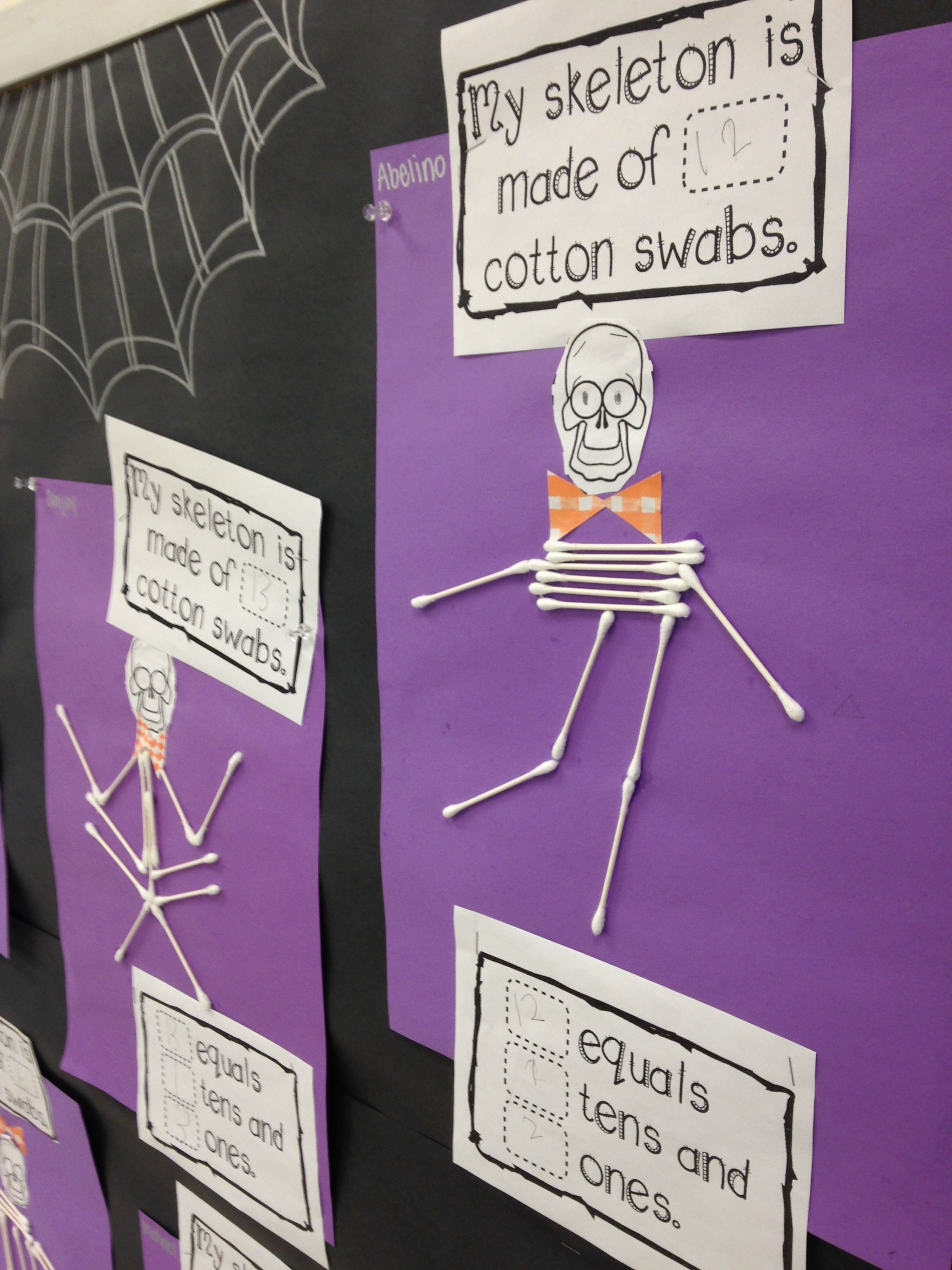 First Grade Place Value Craft Activity Spooky Themed