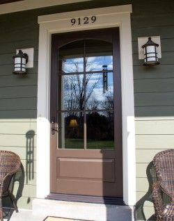 new style 10464 83986 Marvin Extruded Aluminum Clad Entry Door with wood interior ...