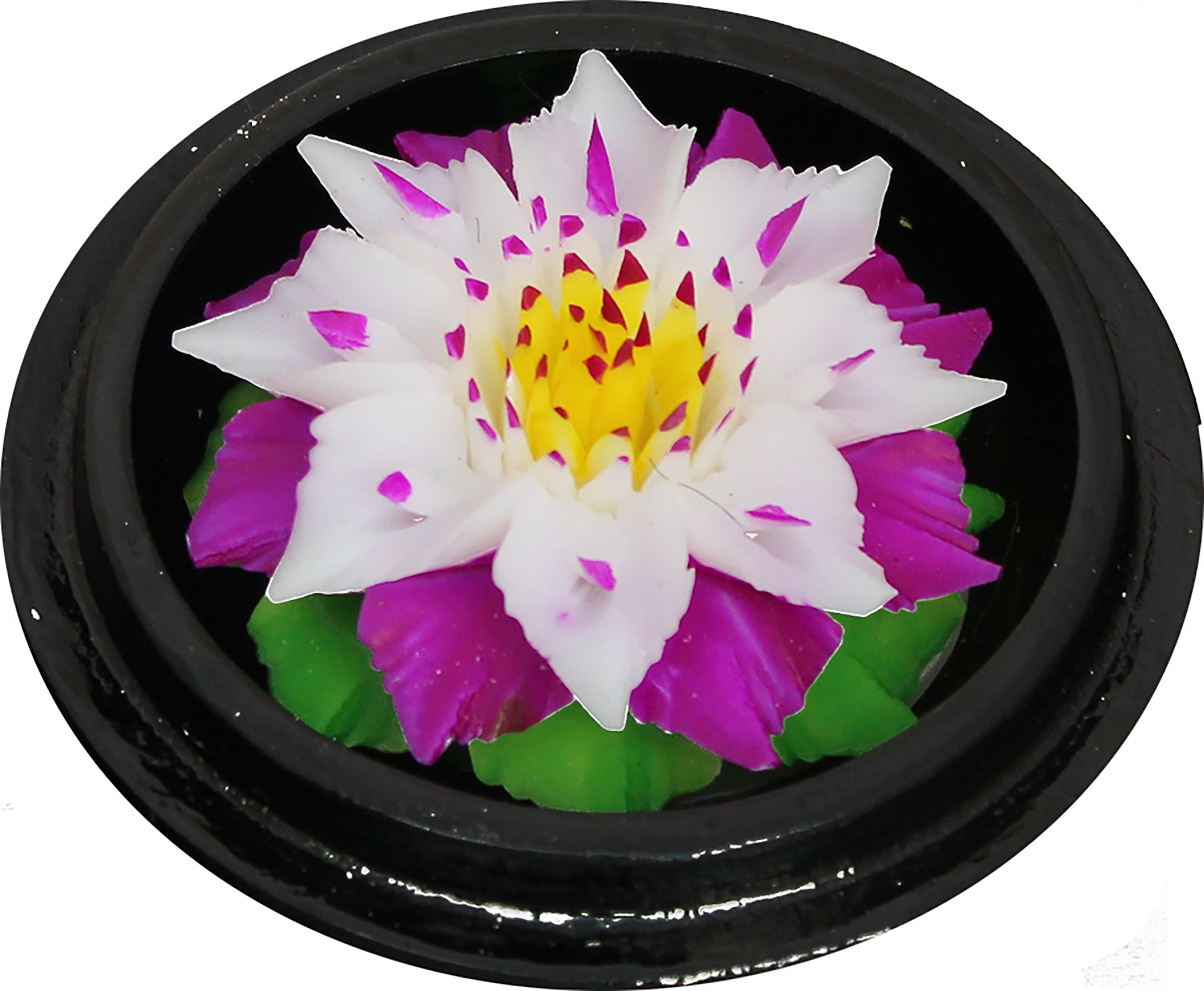 Hand Carved Hand Painted Scented Soap White Purple Lotus Http