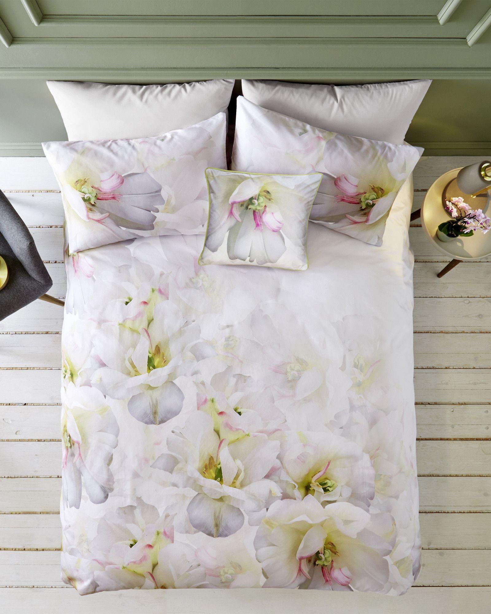 Ted Baker Gardenia Cotton Double Duvet Cover Navy Ted Baker Bedding