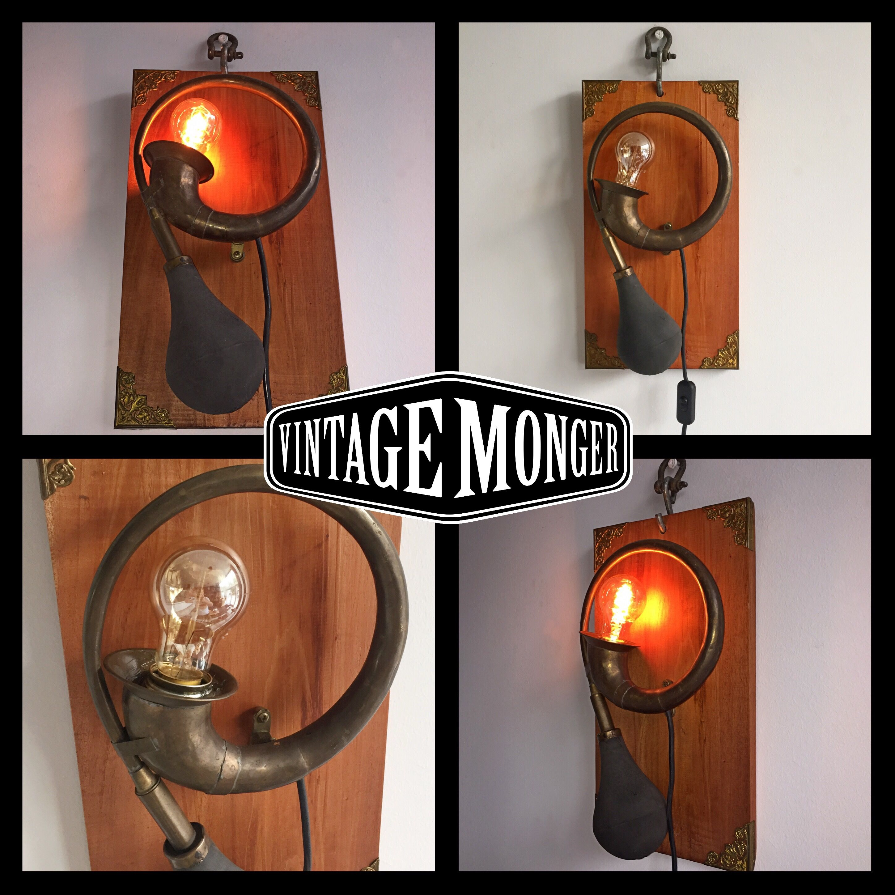 Honk The Horn Wall Lamp Model T Car Horn 1950 Vintagemonger