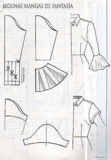 Cartamodello manica 21   sleeves   Pinterest   Nähen und Schnittmuster