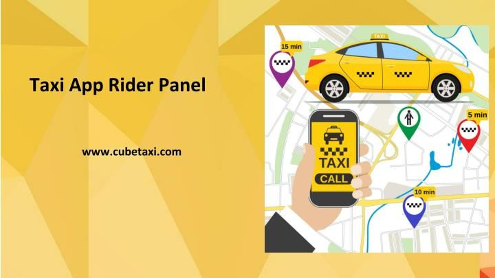 Rider Panel for Taxi Booking Application Taxi app, App