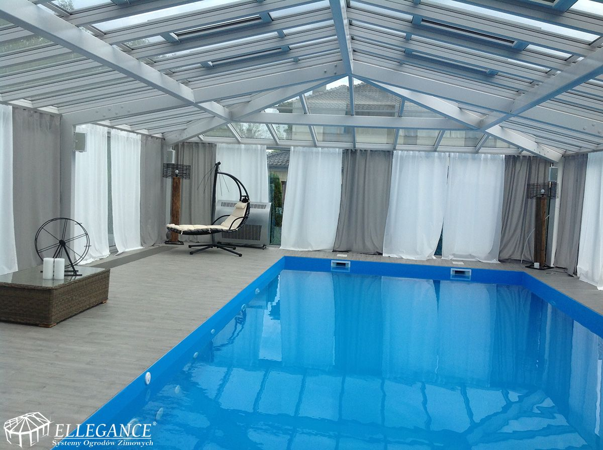 We Would Like To Present You The Unique Implementation Of Ellegance A Winter Garden And The Swimming Swimming Pool Enclosures Pool Enclosures Swimming Pools