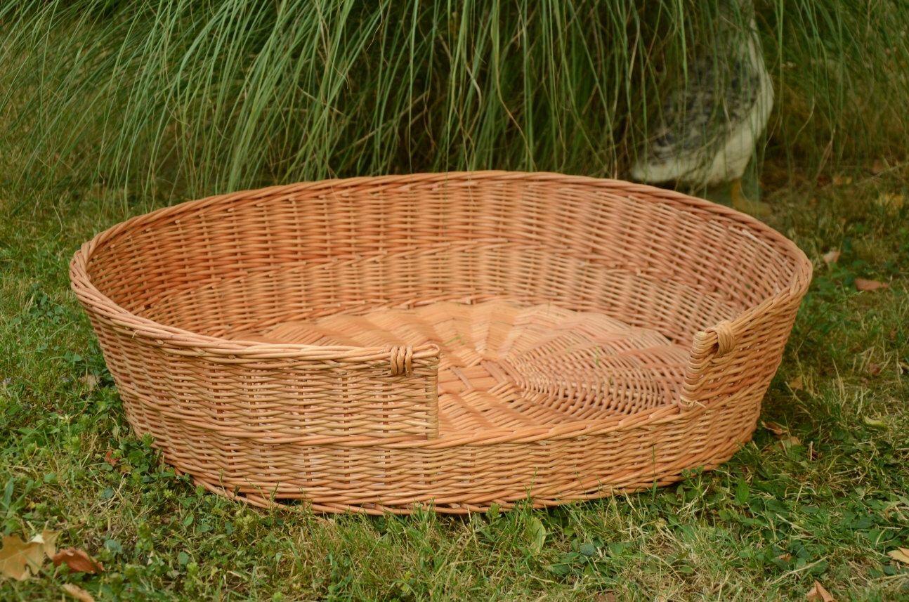 Medium/Large Dog Bed, Large Dog Basket, Wicker Dog