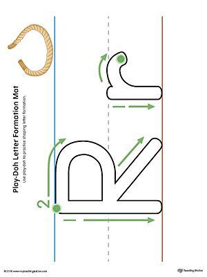 Letter Formation Play-Doh Mat: Letter R Printable (Color) | Pre-K ...