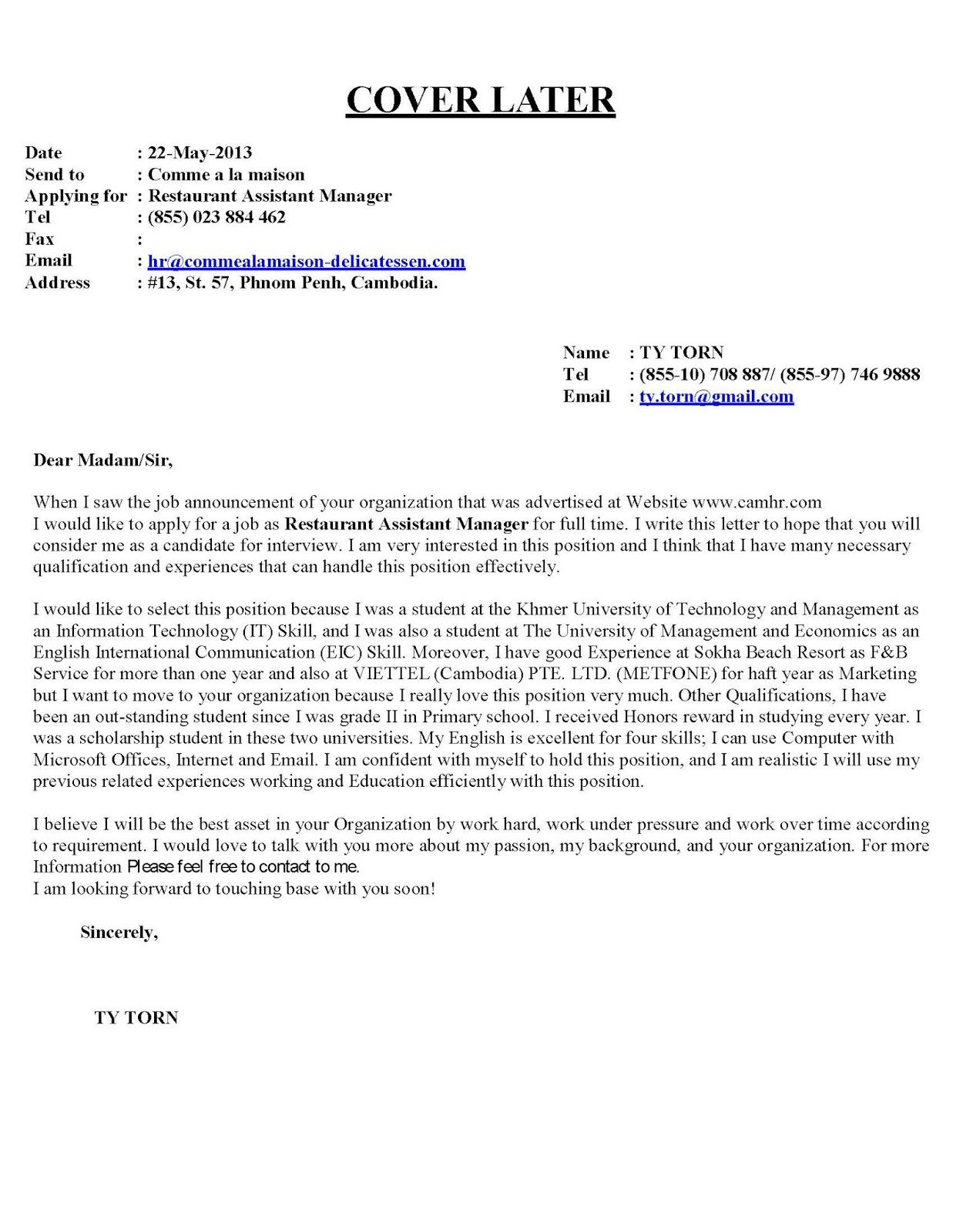 cover letter examples for cashier position cover letter cover letter