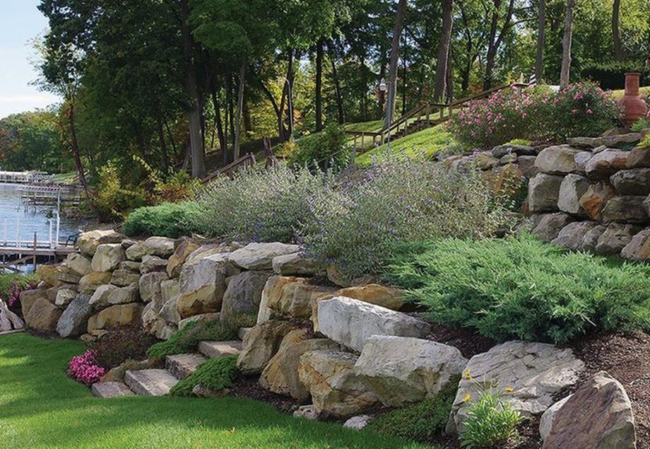 Lakefront Property Landscaping Ideas 2 Lake Landscaping Backyard Landscaping House Landscape