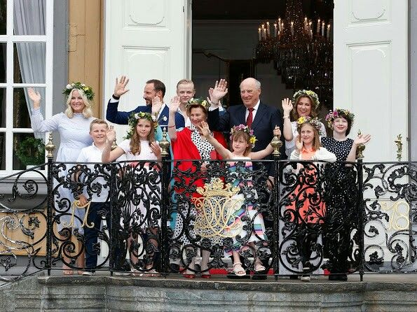 The Norwegian Royal Family celebrate King Haralds Silver Jubilee. June 23 2016
