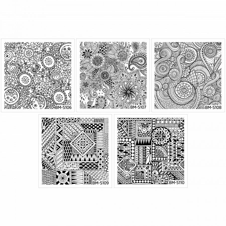 10pc Abstract Themed Square Nail St&ing Plate Shangri-La Master Set  sc 1 st  Pinterest & 10pc Abstract Themed Square Nail Stamping Plate: Shangri-La Master ...