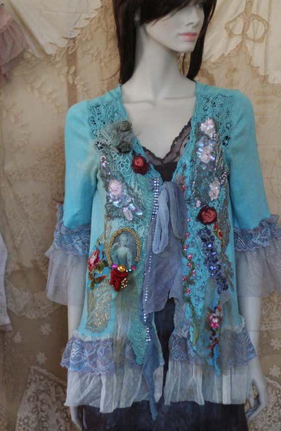 Baroque jacket VI  romantic textile art jacket от FleursBoheme