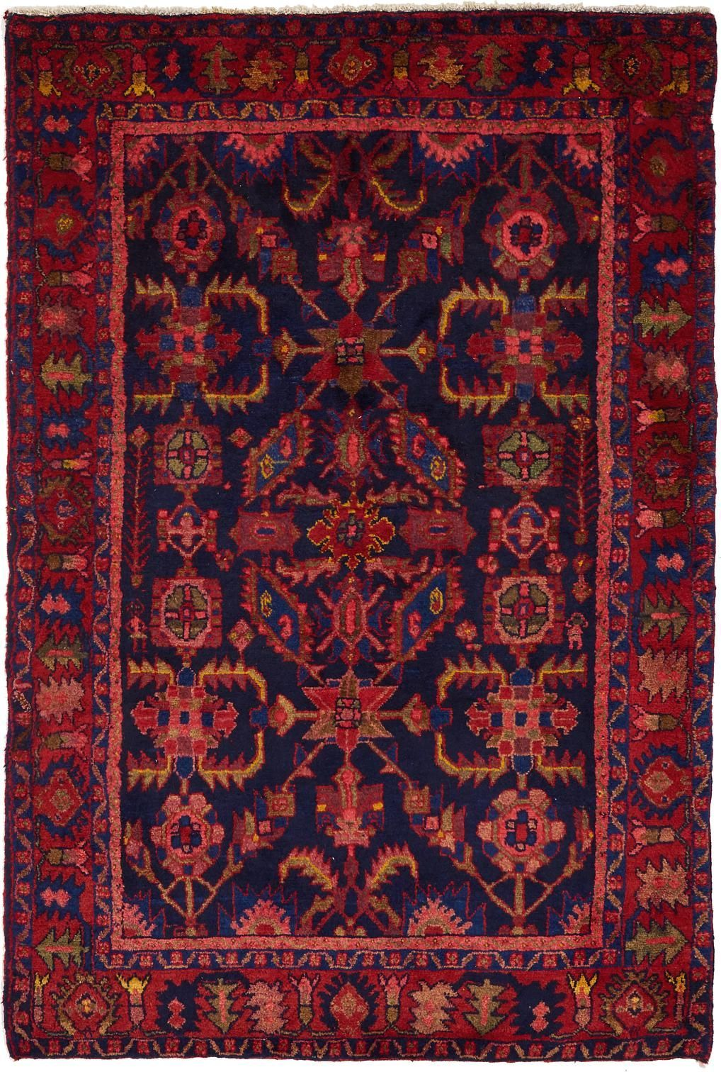Navy Blue 4 5 X 6 8 Hamedan Persian Rug Persian Rugs