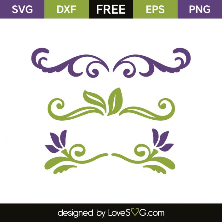 Decorative Elements Plotten Freebies