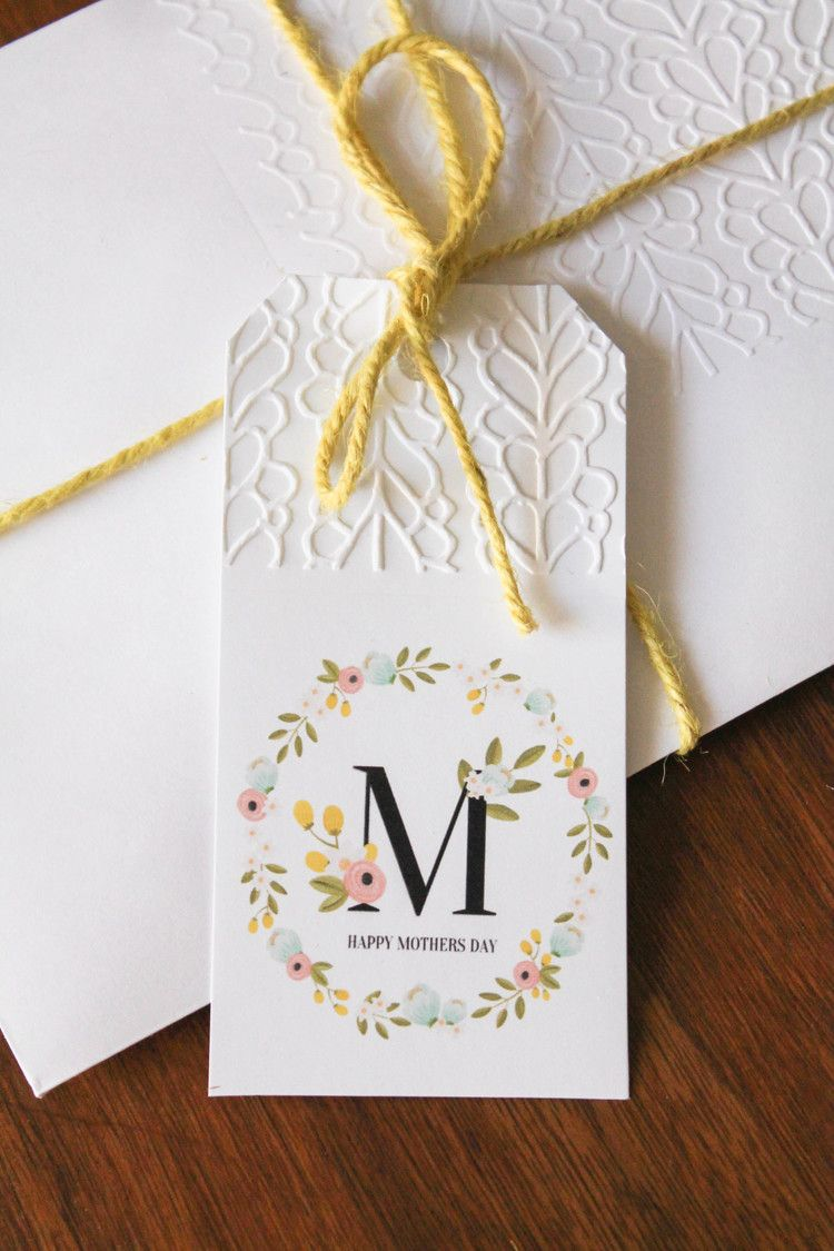 Mother\'s Day Printable Gift Tag | Free printable, Arrow and Happy ...