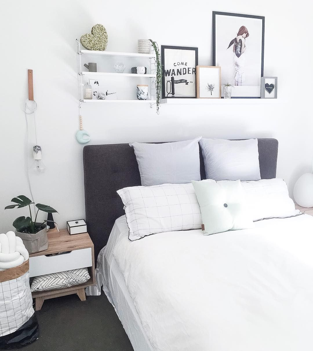 Adore Magazine - bedrooms - shelves over bed, | Decorating Ideas ...