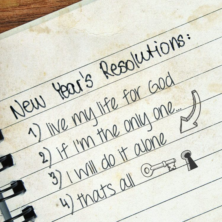 New Year\'s list of things to do. \