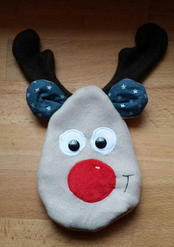 Rentier in der Kugel (auch als Hase oder Weihnachtsmann / Nikolaus ...