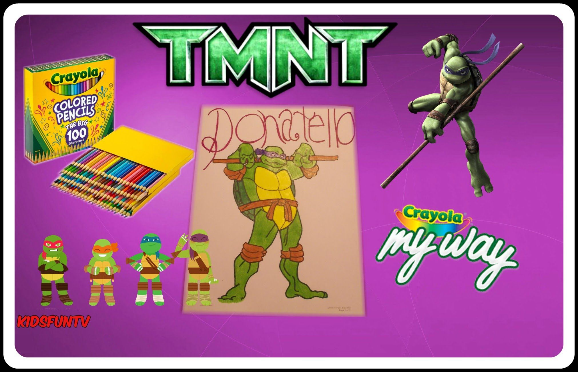 Teenage Mutant Ninja Turtle TMNT Coloring Pages Donatello DIY With ...