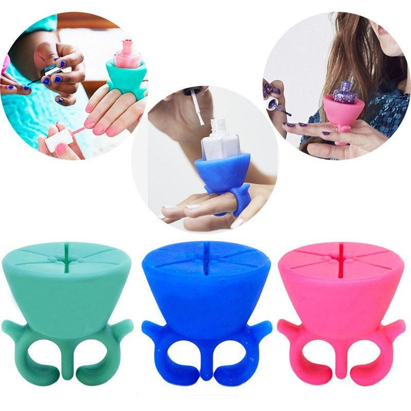 Creative Finger Wearable Nail Polish Holder Display Silicone Stand Useful Holder #M02156 - http://mixre.com/product/creative-finger-wearable-nail-polish-holder-display-silicone-stand-useful-holder-m02156/