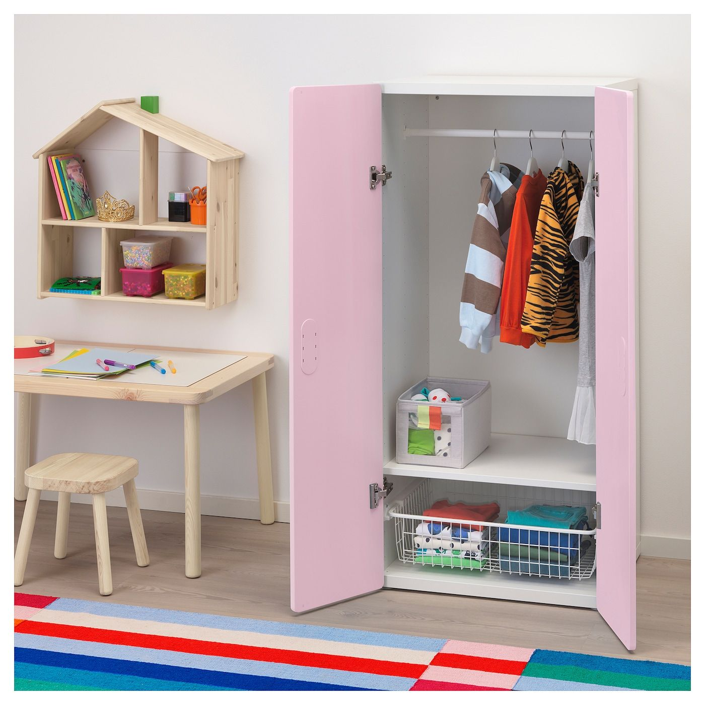 Ikea Kinderzimmer Stuva Planer Stuva Fritids Wardrobe White Light Pink Bedroom Ideas