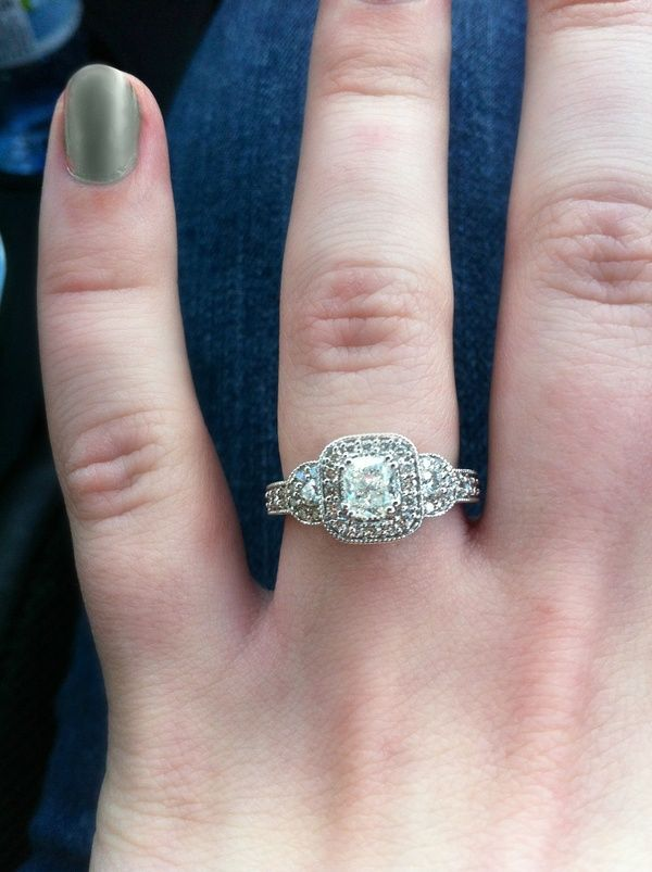 Matt Did Perfect On My Engagement Ring! Cant Wait To Put The Wedding Band  With It Wedding Ideas