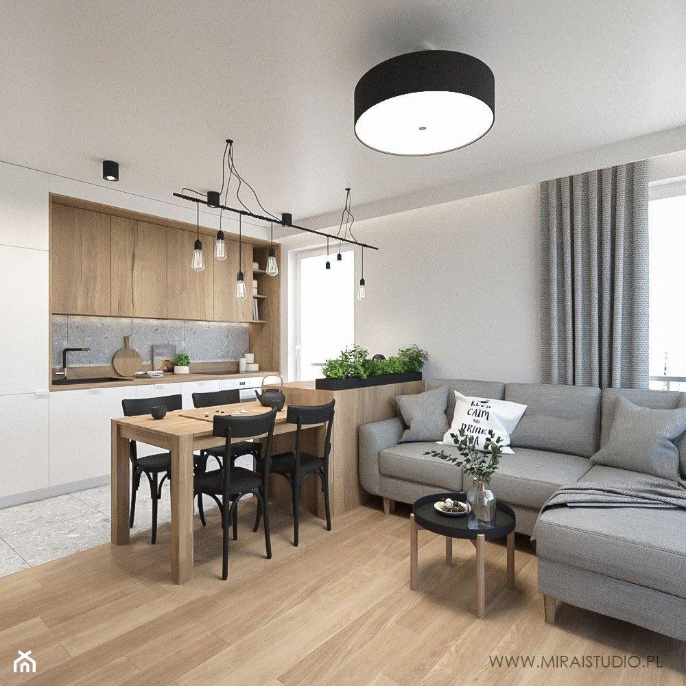Maly Salon Aranzacje Pomysly Inspiracje Homebook Open Plan Kitchen Dining Living Tiny House Living Home