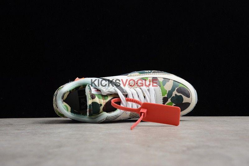 c9474e4498 Custom Off-White x Nike Air Max 90 Bape Green Camo   kicks vogue ...