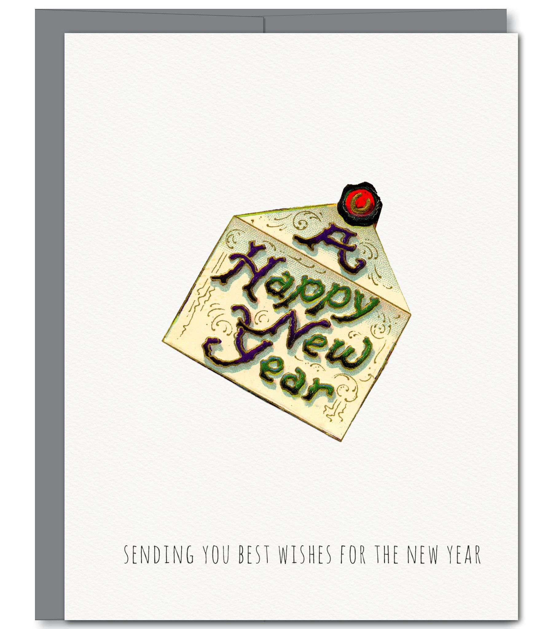 New Year Letter Holiday Glitter Greeting Card Products