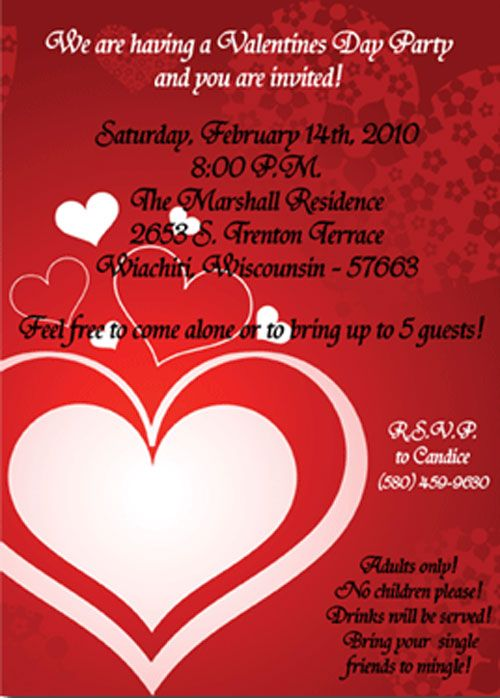 sending valentines party invitations is one of most important arrangements that are made for throwing a valentines day party whether its for kids teens - Valentine Party Invitations