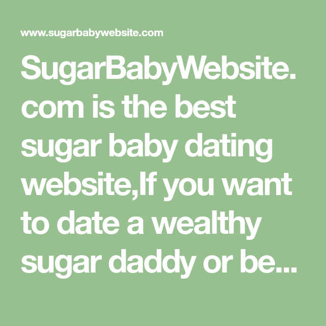 best sugar baby dating sites