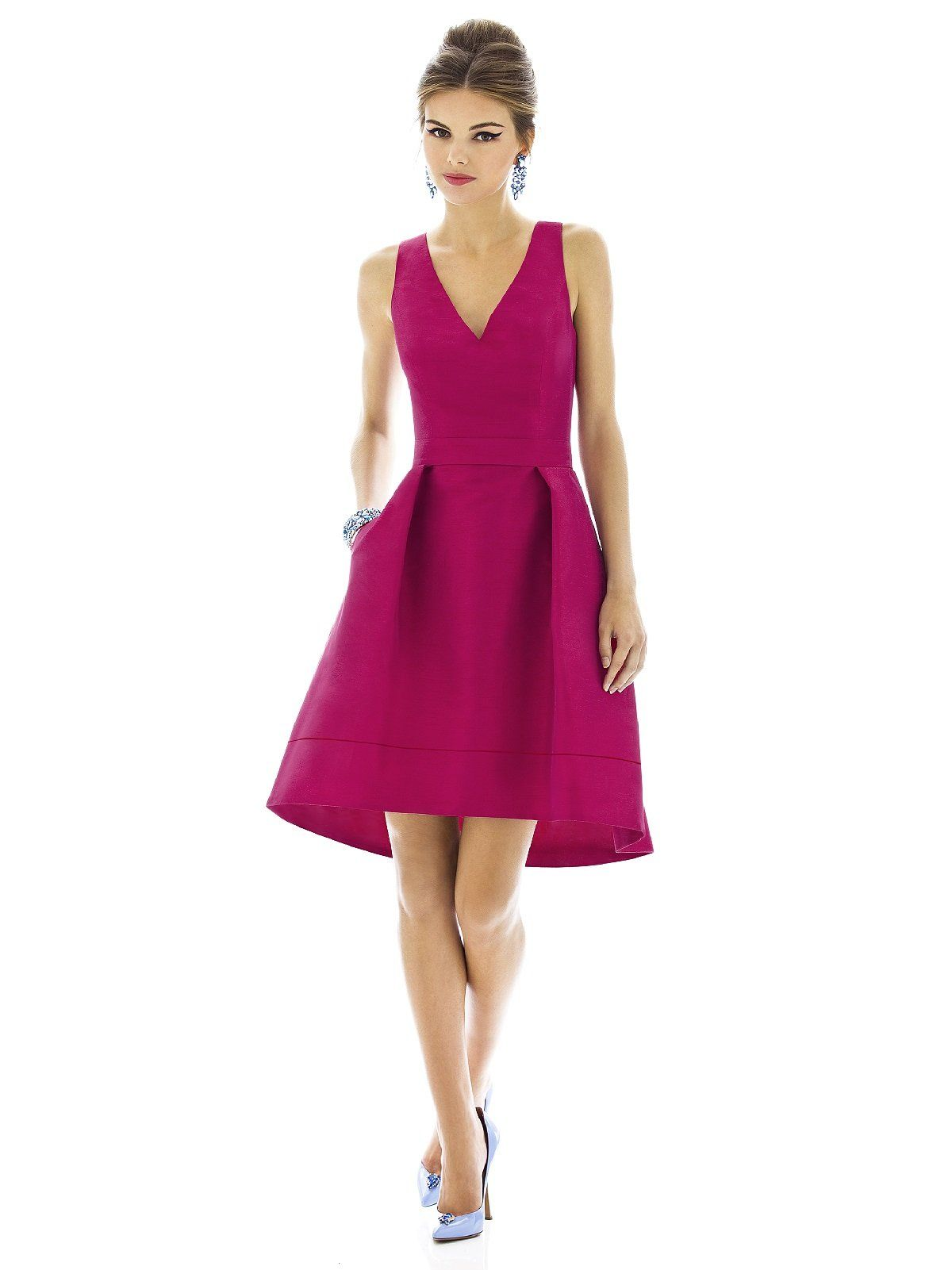 Alfred Sung Style D586 - Sangria - Size 0 | Wedding Bridesmaids ...