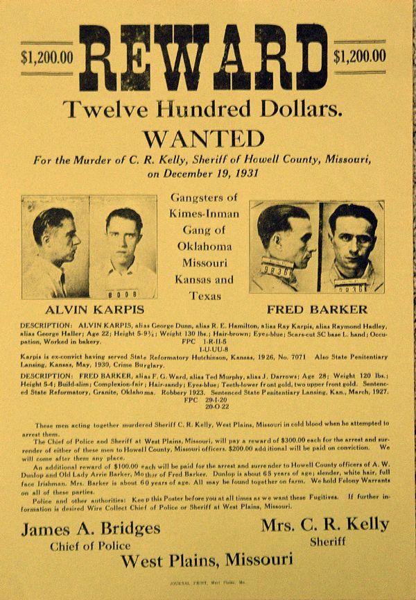 Alvin Karpis and Fred Barker 1931