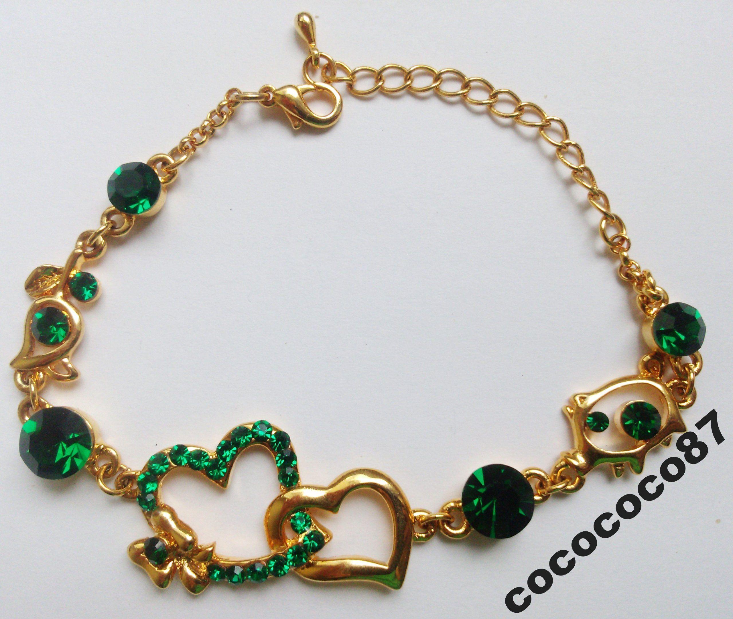 Nowa Pozlacana Bransoletka Swarovski Serduszka 6311684062 Oficjalne Archiwum Allegro Chain Necklace Necklace Bracelets