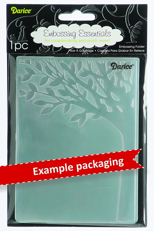 4.25 x 5.75 Darice 1218-118 Embossing Folder Geo Christmas Tree Design