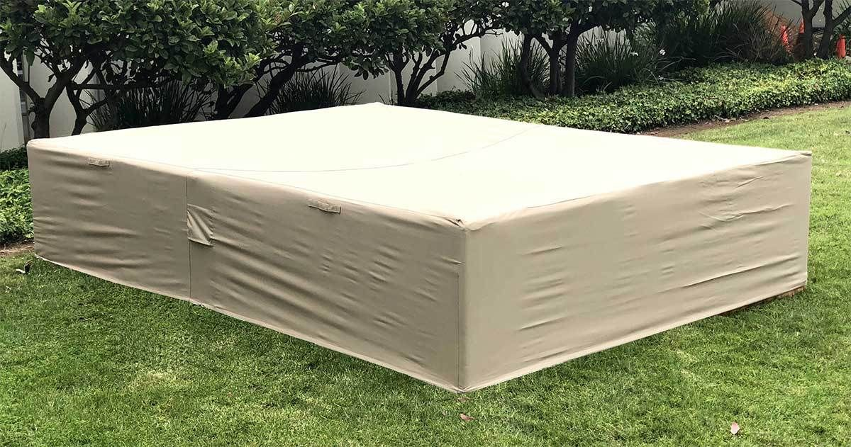 Rainproof Patio Furniture.Extra Large Patio Sectional Furniture Cover 98 126 27 Inches Beige
