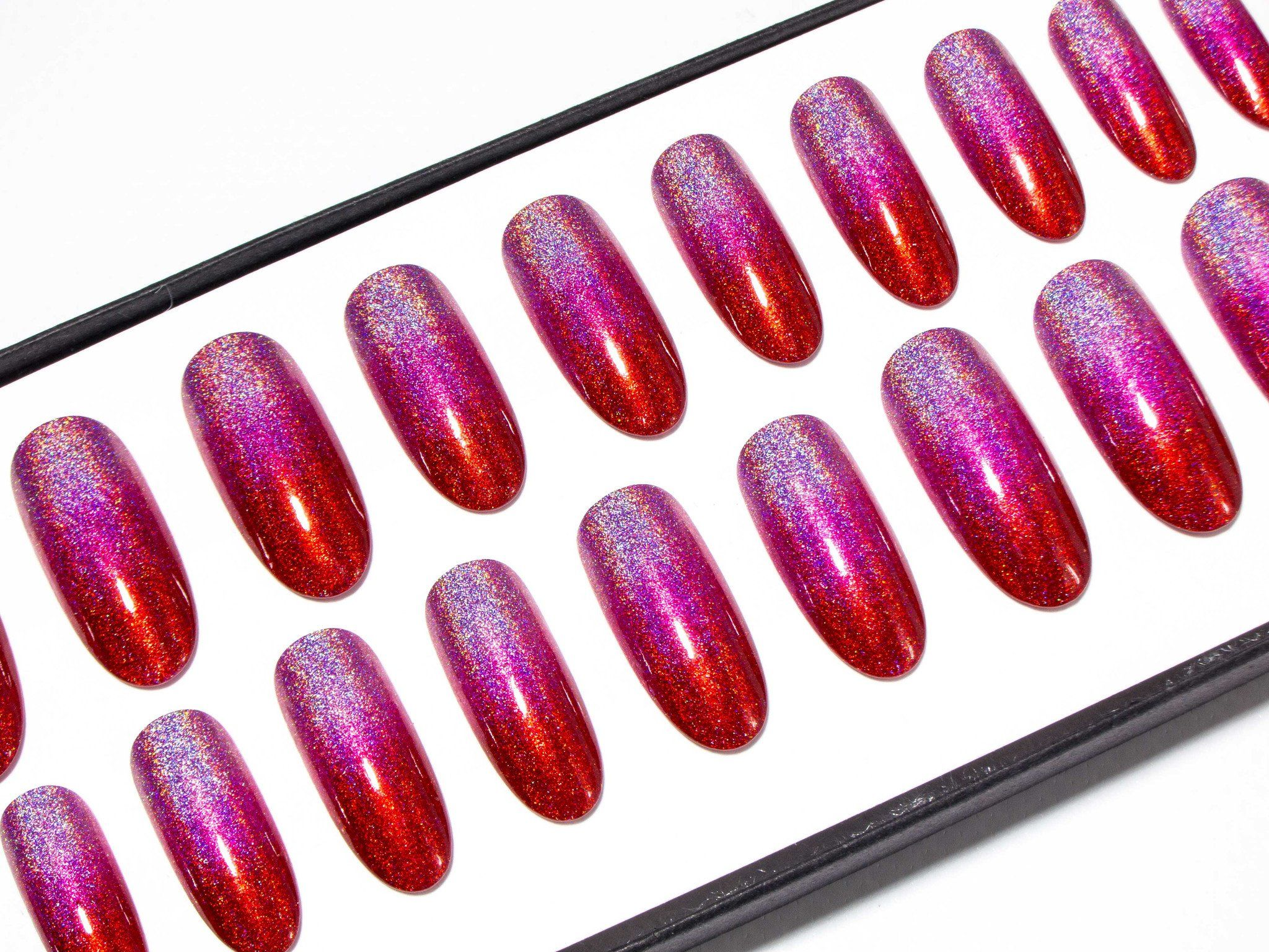 Pink to Red Holographic Ombre - All Shapes | Holographic Heaven ...