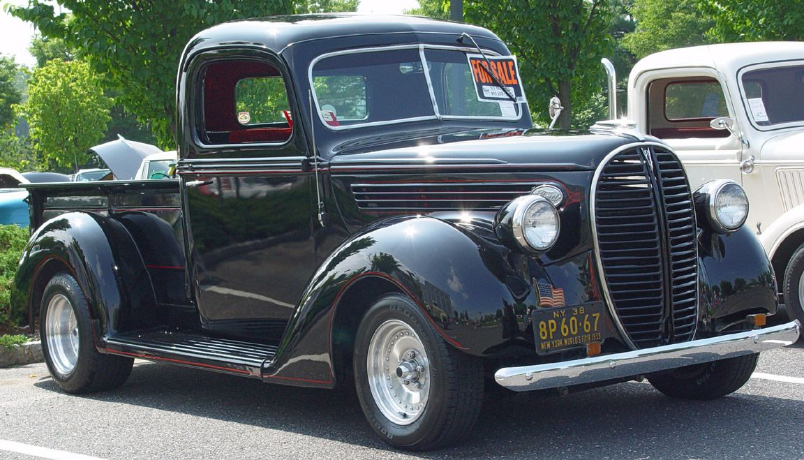 1938 1939 Ford Pickup Black Red Pinstripe Ford Pickup Old