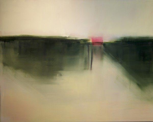 """Liz Dexheimer, """"Domain Interchange with Magenta"""" 2016 Oil on canvas 46 x 58 in"""