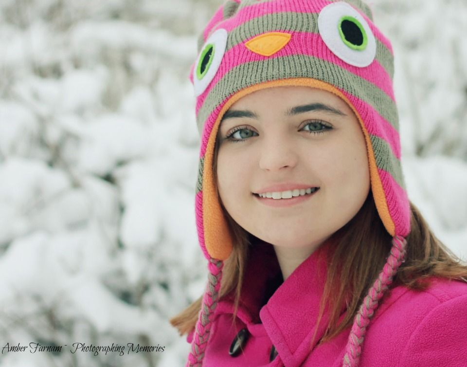 Teen Snow Shoot Teen Poses Hot Pink