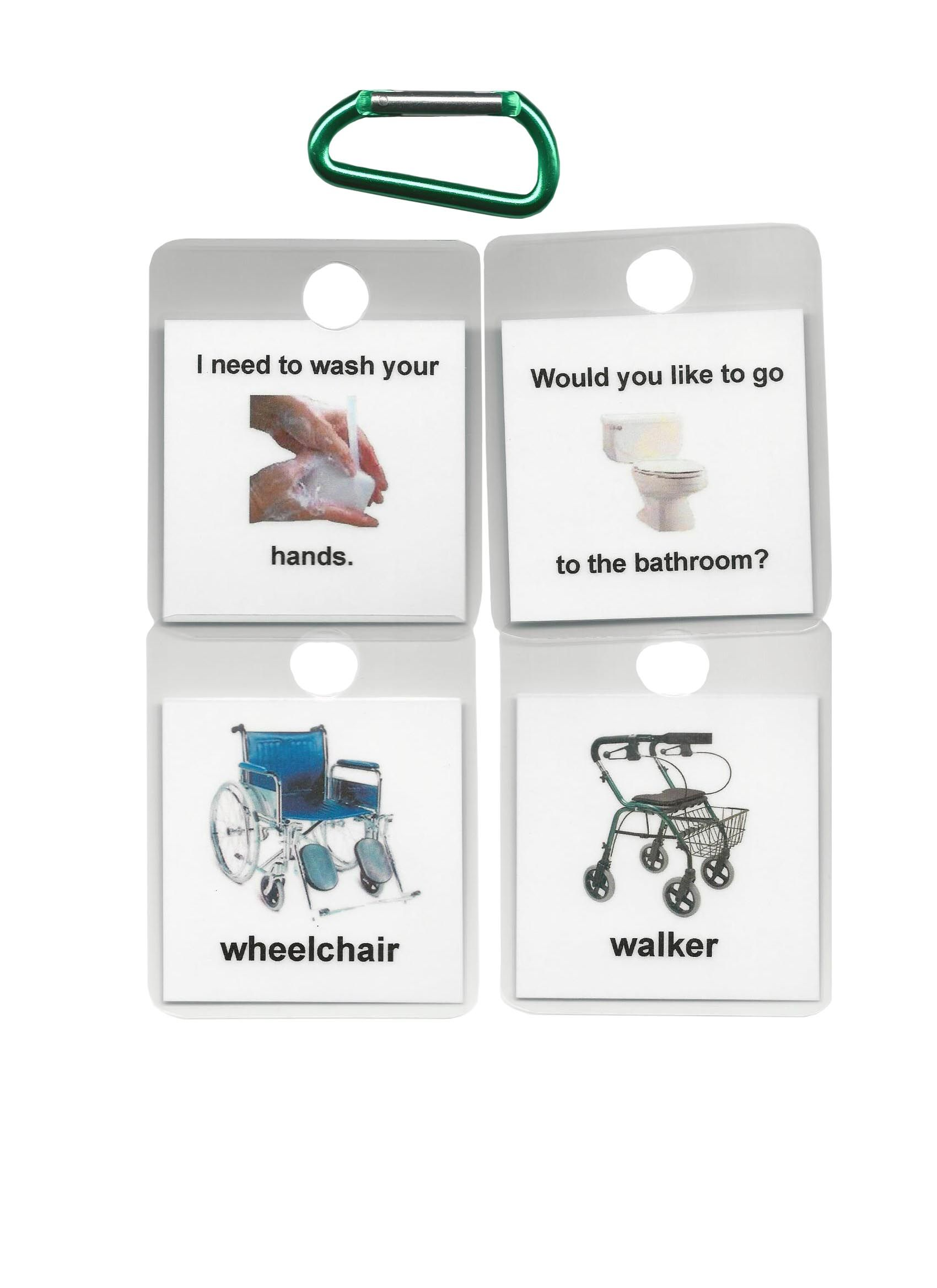 The Communication Key Chains Are A Set Of 42 Laminated